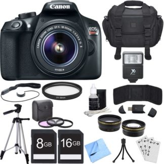 Canon EOS Rebel T6 Digital SLR Camera with EF-S 18-55mm IS II Lens + Accessory Bundle