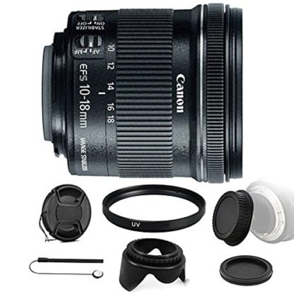 Canon EF-S 10-18mm f/4.5-5.6 IS STM Lens for Canon EOS Rebel T2i T1i SL1 SL2 with Ultimate Accessory Bundle