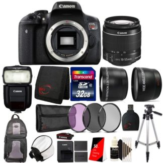 Canon EOS Rebel T6 Digital SLR Camera with EF-S 18-55mm f/3.5-5.6 IS II Lens, 430EX Flash and Utimate Accessory Bundle