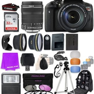 Canon EOS Rebel T6i 24.2 MP Digital SLR Camera with EF-S 18-135mm f/3.5-5.6 IS STM & SanDisk 32GB Ultra Class 10 SDHC UHS-I Memory Card and Professional Complete Accessory Bundle (23 Items)