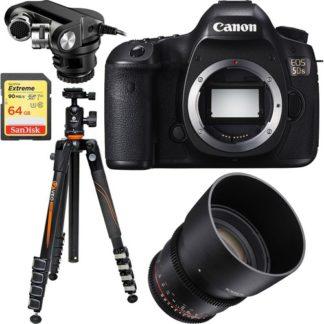Canon EOS 5DS 50.6MP Digital SLR Camera (Body) + Rokinon 85mm Cine Lens Bundle
