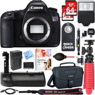 Canon EOS 5DS R 50.6MP Digital SLR Camera Body + Battery Grip & Accessory Bundle