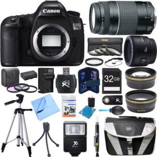 Canon EOS 5DS R 50.6MP Digital SLR Camera w/ 50mm + 75-300mm Lens Super Bundle