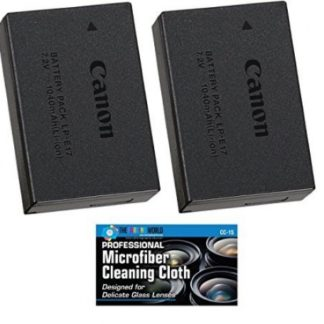 Canon LP-E17 Battery Pack for EOS M5, M3, Rebel T6i, T6s Cameras - + MicroFiber Cleaning Cloth