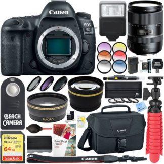 Canon EOS 5D Mark IV 30.4MP Digital SLR Camera + Tamron 28-300mm Di VC PZD Lens Bundle