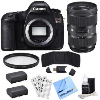 Canon EOS 5DS 50.6MP Digital SLR Camera (Body Only) & Sigma 24-35mm Lens Power Bundle