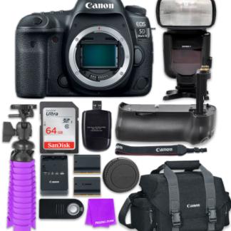 Canon EOS 5D Mark IV Digital SLR Camera (Body) + Accessory Bundle