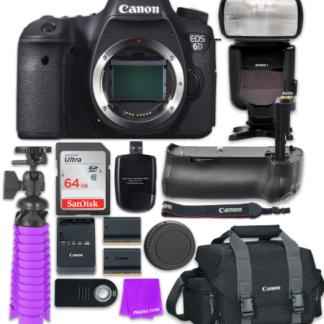 Canon EOS 6D 20.2 MP Full-Frame CMOS Digital SLR Camera (Body) + Accessory Bundle