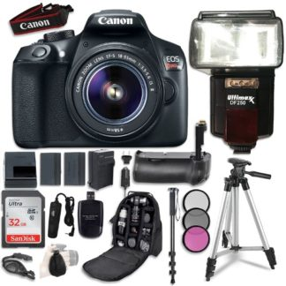 Canon EOS Rebel T6 DSLR Camera with Canon EF-S 18-55mm f/3.5-5.6 IS II Lens + Accessory Bundle