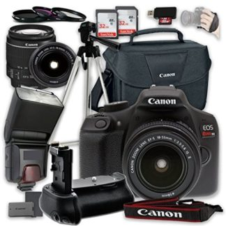 Canon EOS Rebel T6 Digital SLR Camera with Canon EF-S 18-55mm f/3.5-5.6 IS II Lens + Accessory Bundle