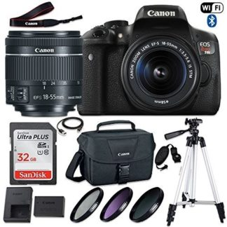 Canon EOS Rebel T6i DSLR Camera with Canon EF-S 18-55mm f/3.5-5.6 IS STM Lens, 32GB Memory, Canon Bag, 3 HD Filters, Grip Strap, USB Cable and 50 Inch Tripod