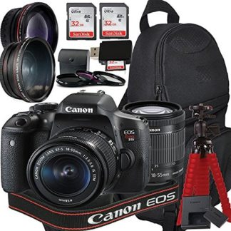 Canon EOS Rebel T6i Digital SLR Camera with EF-S 18-55mm IS STM Kit + Accessory Bundle