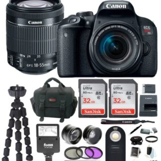 Canon EOS Rebel T7i DSLR Camera w/18-55mm lens & 64GB Deluxe Accessory Bundle