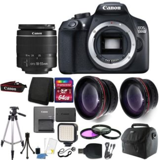 Canon EOS Rebel 1300D / T6 Digital SLR Camera with 64GB Deluxe Accessory Bundle