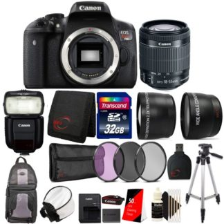 Canon EOS Rebel T6i Digital SLR with EF-S 18-55mm IS STM Lens, 430EX Flash and Ultimate Accessory Bundle