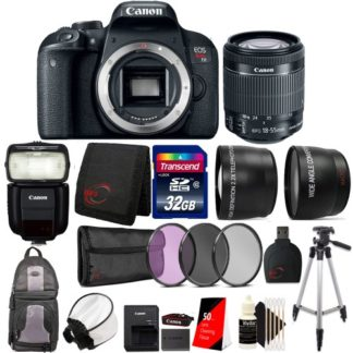 Canon EOS Rebel T7i Digital SLR Camera with EF-S 18-55mm f/4-6.6 IS STM lens, 430EX Flash and Ultimate Accessory Bundle