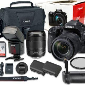 Canon EOS 80D Digital SLR Camera Bundle with EF-S 18-135mm f/3.5-5.6 IS USM Lens NANO Autofocus System + SanDisk 32GB Ultra Class 10 SDHC + Accessory Kit