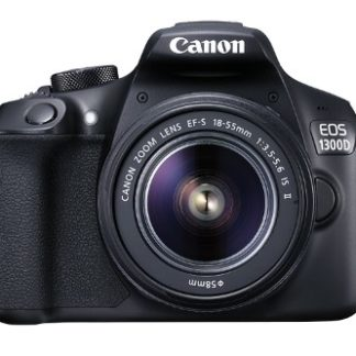 Canon EOS Rebel 1300D/T6 18MP DSLR Camera + Canon EF-S 18-55mm f/3.5-5.6 Camera Lens