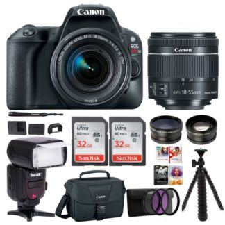 Canon EOS Rebel SL2 DSLR Camera with 18-55mm Lens and 64GB Memory Bundle