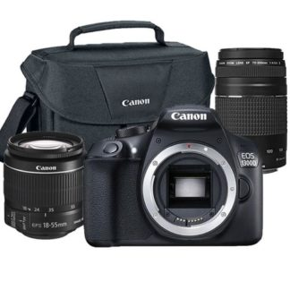 Canon Eos Rebel 1300D/T6 18MP DSLR Premium Camera Bundle with 18-55mm, 75-300mm Lenses and Original Canon Case