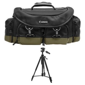 Canon 1EG DSLR Camera Case/Bag+Tripod for EOS 70D 6D Rebel T3 T3i T4i T5 T5i SL1