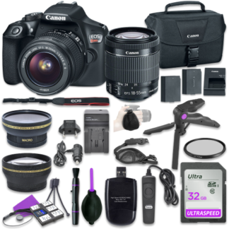 Canon EOS Rebel T6 Digital DSLR Camera Bundle with EF-S 18-55mm f/3.5-5.6 IS II Lens + 32GB Memory + Accessory Bundle