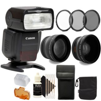 Canon SpeedLite 430EX III-RT Flash And Accessory Bundle for Canon Eos Rebel Cameras