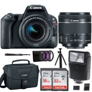 Canon EOS Rebel SL2 SLR Camera w/ 18-55mm f/4 STM Lens + Canon Bag & 48GB Bundle