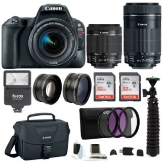 Canon EOS Rebel SL2 SLR Camera with Lenses and Accessory Bundle