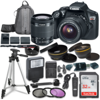 Canon EOS Rebel T6 Digital SLR Camera with Canon EF-S 18-55mm IS STM Lens + Sandisk 32GB SDHC Memory Cards + Accessory Bundle