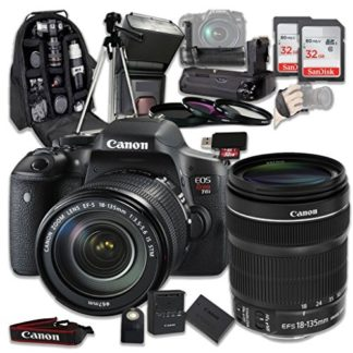 Canon EOS Rebel T6i 24.2 MP Digital SLR Camera Bundle with Canon EF-S 18-135mm f/3.5-5.6 IS STM Lens