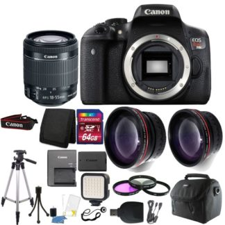Canon EOS Rebel T6i / 750D Digital SLR Camera with 64GB Upgraded Accessory Bundle