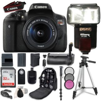 Canon EOS Rebel T6i DSLR Camera with Canon EF-S 18-55mm f/3.5-5.6 IS STM Lens + 32GB SD Memory Card + Accessory Bundle
