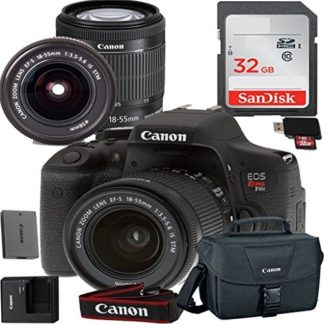 Canon EOS Rebel T6i Digital SLR Camera with EF-S 18-55mm IS STM Kit Accessory Bundle + 32GB SD Card + Canon Case