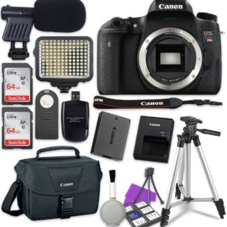 Canon EOS Rebel T6s Digital SLR Camera Body + 2x Sandisk 64GB SDHC Memory Cards + Accessory Bundle