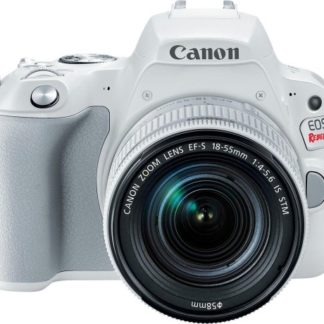 Canon - EOS Rebel SL2 DSLR Camera with EF-S 18-55mm IS STM Lens - White